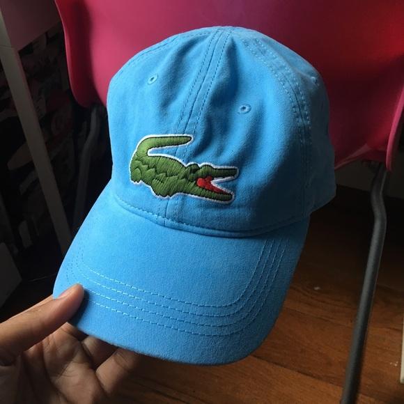 369c2ec2 Lacoste Accessories | Big Croc Logo Cap In Blue | Poshmark